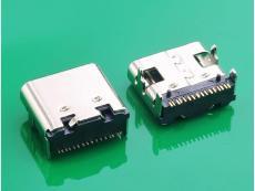TYPE C 3.1母头板上7.3MM 16P 四脚DIP插件