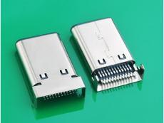 TYPE C 3.1公头端子双SMT USB3.1插头大电流