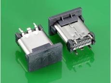 USB 3.1TYPE C母头直立式SMT 10.5长 大电流