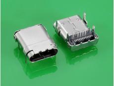 USB 3.1 TYPE C母头板上 长10.8MM 大电流