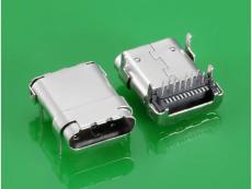 USB 3.1 C TYPE 母头板上 10.8MM 四脚DIP