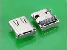USB 3.1 C TYPE 母头板上四脚插件式 带装