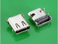 板上插件TYPE C母座USB3.1连接器接口 四脚
