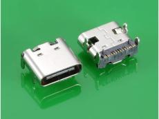 USB 3.1 C TYPE 母头 后排单排16PIN SMT