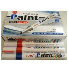 东洋SA101中字油漆笔记号笔补漆笔广告签名