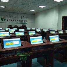科桌翻轉電腦桌 嵌入式電腦翻轉桌 學生機房