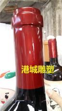 酒产业创意宣传大型玻璃钢酒瓶雕塑哪家好厂