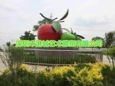 种植苹果基地玻璃钢红富士苹果雕塑定制哪家