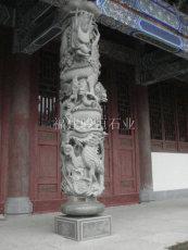 青石龙柱价格 寺庙仿古龙柱 石雕龙凤柱一对