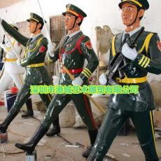 庆祝活动玻璃钢阅兵士兵雕塑像值得信赖厂家