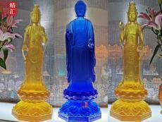 大號琉璃藥師佛東方三圣佛像 上海琉璃佛像
