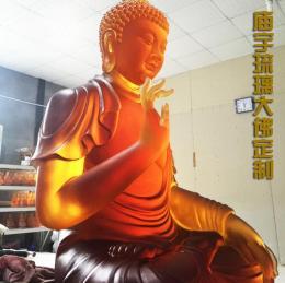 深圳廣州大件琉璃定做 真琉璃雕像琉璃佛像