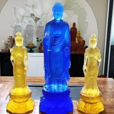 上海大件琉璃佛像 琉璃藥師佛七佛定制工廠