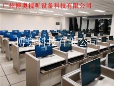 广州电动升降屏风考试桌智能语音机考卡座