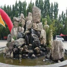 別墅庭院假山水池設計吸水石假山價格西安