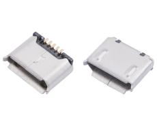 MICRO USB 5P母座 全包无脚凸包无孔 铜端子