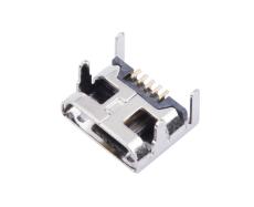 MICRO USB 5P母座四脚DIP插板7.2脚高1.2
