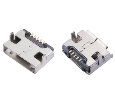 AB型MICRO USB5P母座DIP7.2前插后贴迈克口