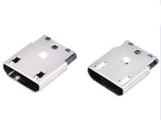 B型MICRO USB 5P焊线母座直边凸包无孔