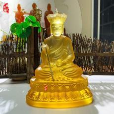 地藏王菩萨古法琉璃佛像广州琉璃厂家