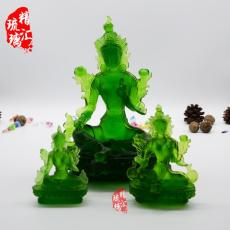 绿度母古法琉璃佛像成都藏传佛教佛像