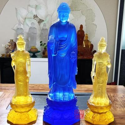 大號琉璃自在觀音 琉璃觀音菩薩琉璃佛像廠
