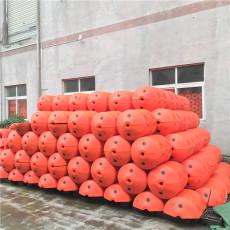 核電站進水口攔垃圾浮桶大距離攔污浮排安裝