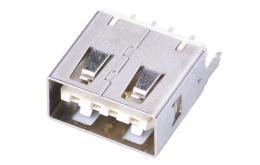 USB 4.0A母双面插立式直插180度插板 大电流