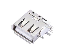 侧立式A母侧插USB4.0母座直脚DIP插板大电流