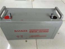 BAYKEE蓄電池6FM10012V100AH工廠直銷報價