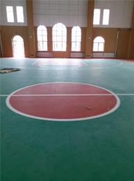 山东东营市阿姆斯壮体育馆耐磨塑胶地板