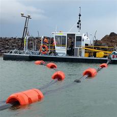 海上PE材質疏浚管道浮體夾電纜浮筒規格