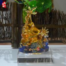 古法琉璃五羊雕像纪念品 广州特色纪念品