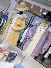 女装品牌批发货源 黄金貂大衣