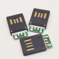 USB 2.0 A公雙面插全塑公頭帶PCB板正反插頭
