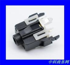 全塑7P立式3.5耳机插座 手机单双声道PJ-334