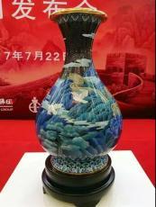 國寶景泰藍和平歡歌賞瓶