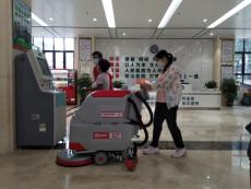 醫院保潔用百色手推式洗地機高效環保