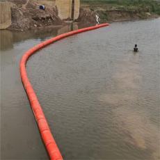 河道柔性拦漂装置嘉陵江拦垃圾浮桶施工