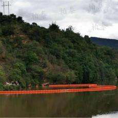 水面拦垃圾浮筒式拦污排200米水电站拦漂