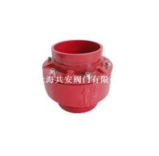 上海共安溝槽消聲止回閥供應 橡膠瓣型批發