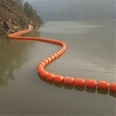 拓溪水库闸口拦垃圾浮漂取水口拦污排施工