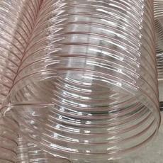 PU钢丝除尘风管耐磨PU钢丝缠绕管抽吸粉末管