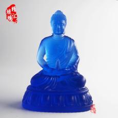 托塔琉璃藥師佛佛像 青島古法琉璃佛像批發