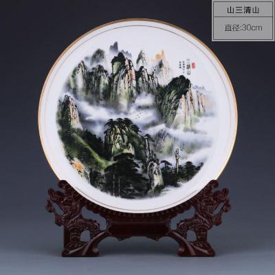陶瓷旅游纪念品瓷盘定制 旅游文化礼品瓷盘