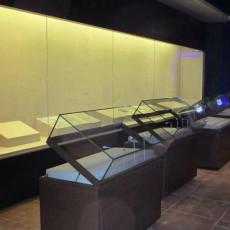 手动液压掀起博物馆平柜-翻开式博物馆展柜