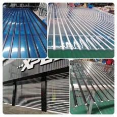 上海商鋪電動水晶門鋁合金型材門定做安裝