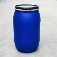 大口藍色200升塑料桶200公斤鐵箍法蘭化工桶