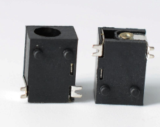 DC电源插座dc-047 2脚90度贴片SMT 2.5A电流