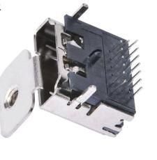 A型HDMI高清接口19P母座三排针插板带耳固定